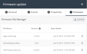 Firmware update window