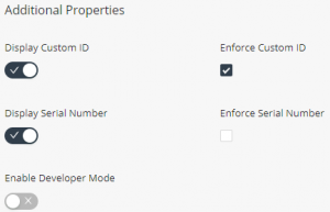 Additional properties in add product window