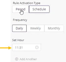 daily scheduled rule