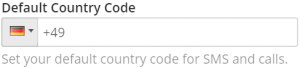 settings - default country code
